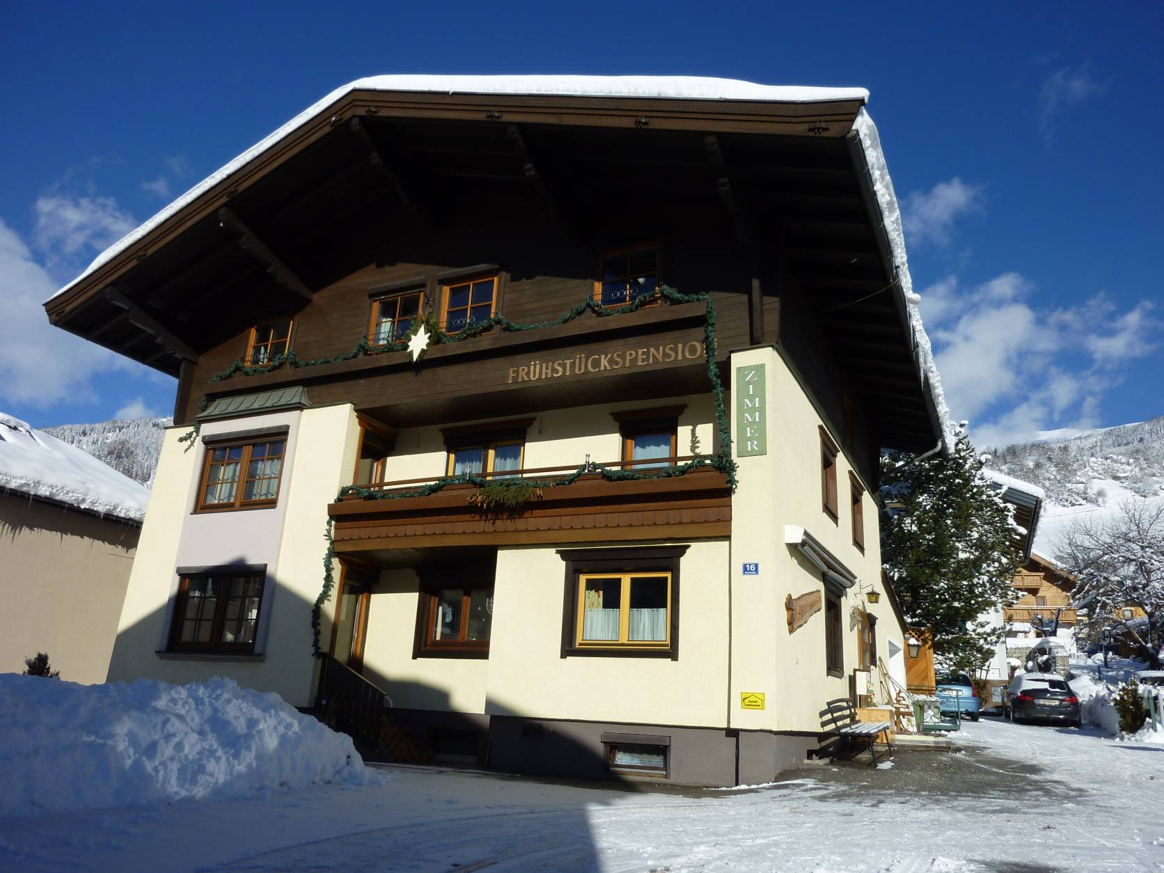 Pension zu Hause in the Winter