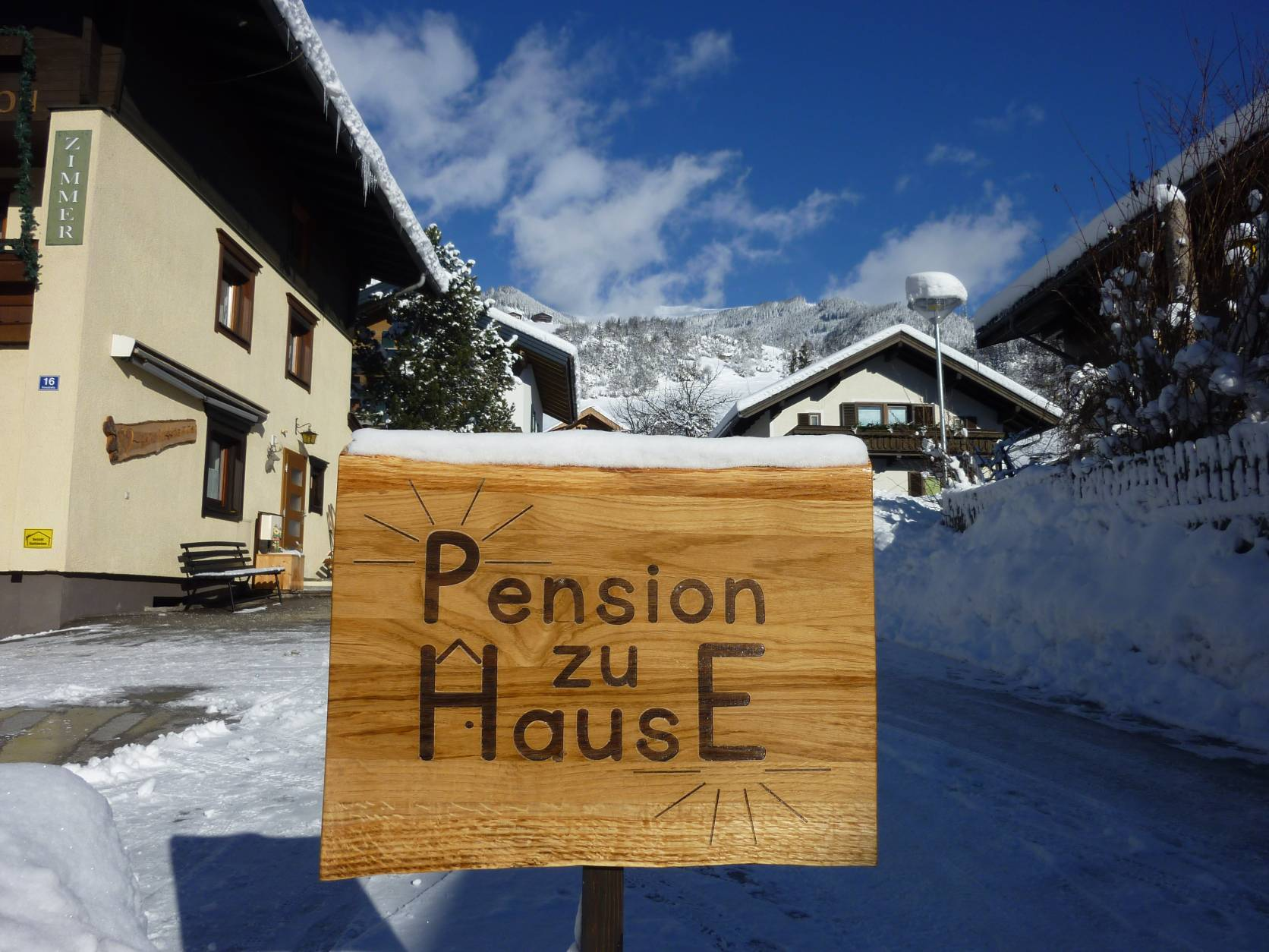 A warm welcome at Pension zu Hause